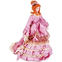 ノーブランド品 2個 1/12サイズ ドールハウス ミニチュア 磁器製 人形 人形の家 飾り 全6パタン選べ - 紫貴婦人
