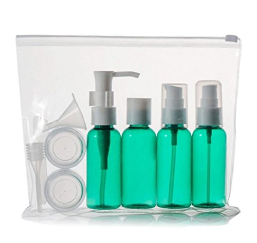 モーカルズ(MOKALE) 旅行ボトル、トラベルボトル、小分けボトル、プラスチック容器、詰め替え、旅行携帯用、出張、海外旅行用、化粧品収納、 旅行用グッズ 、プラスチックの袋付き (グリーン)