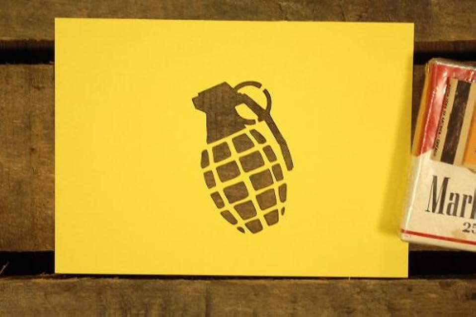 冷える蚊初期の紙製 ステンシル シート 【3インチ】 MK2手榴弾 パイナップル 爆弾