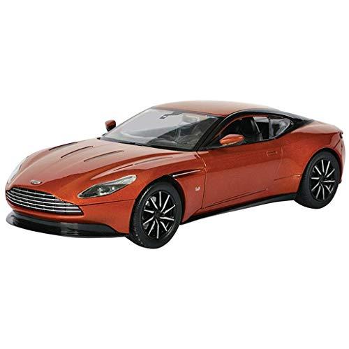 シミュレーションの合金の車のモデル、1:24アストンマーチンDB11スポーツカーモデルのおもちゃ、ホームオフィス絶妙な装飾 (Color : Orange)