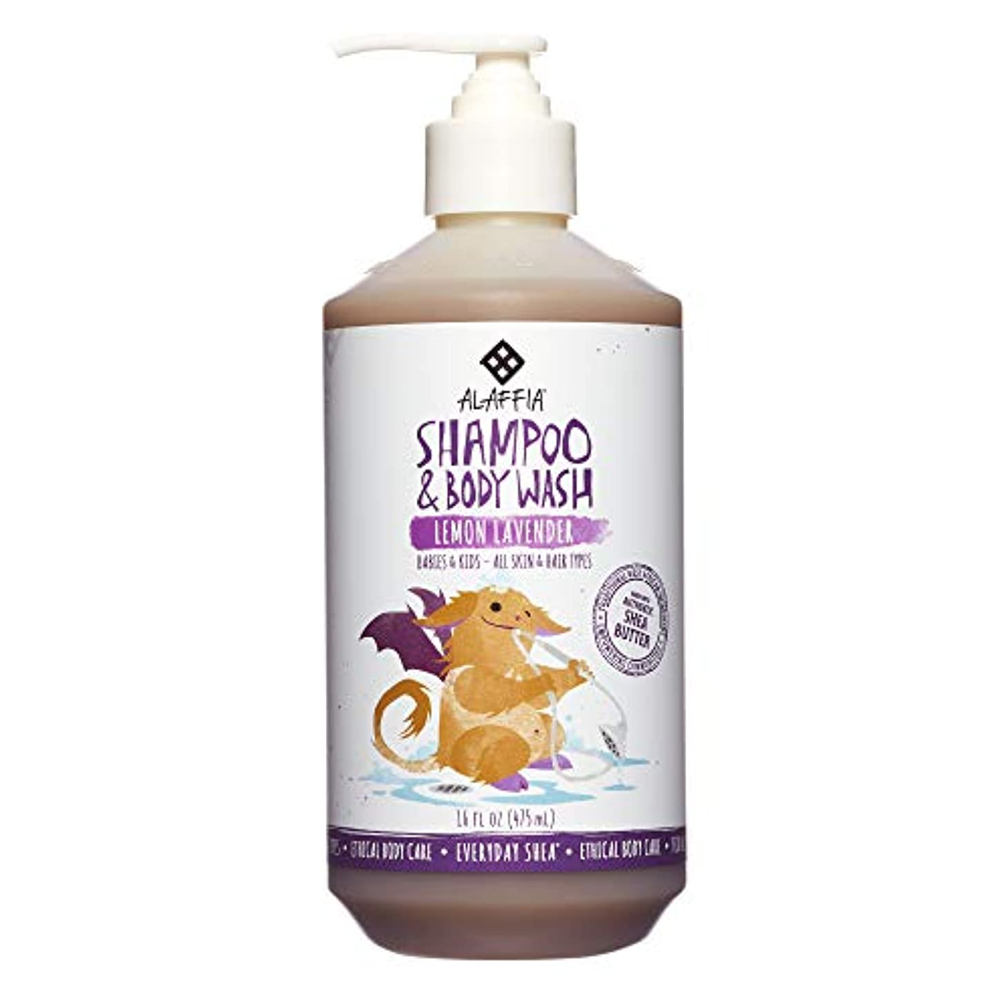 細いしなやかな海港Alaffia Everyday Shea Shampoo & Body Wash for Babies and Up Lemon Lavender 16 oz Size: 16 oz CustomerPackageType...