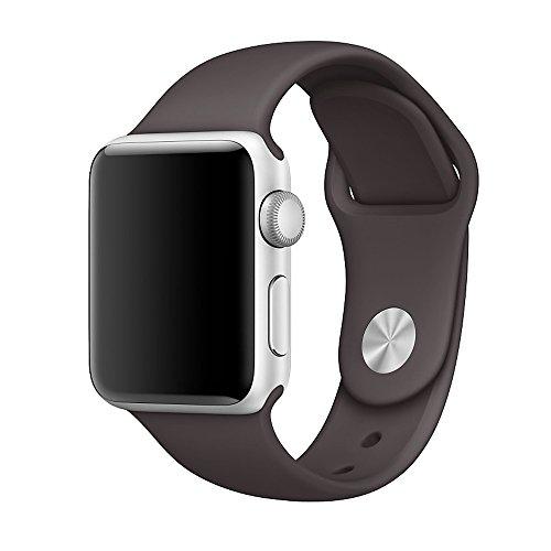 Apple Watch バンド Vteyes アップルウォッチ スポーツバンド ソフトシリコーン 全機種対応 for Apple Watch Series 1 / 2 【38mm、ココア、M/L】