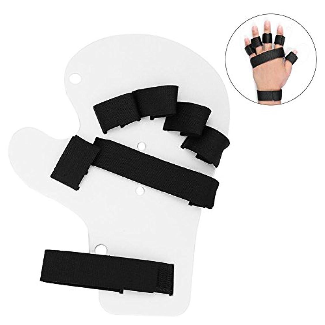 柔和承認する考える指の訓練板、両手のための指の装具の指板手の添え木の訓練サポート(ホワイト)