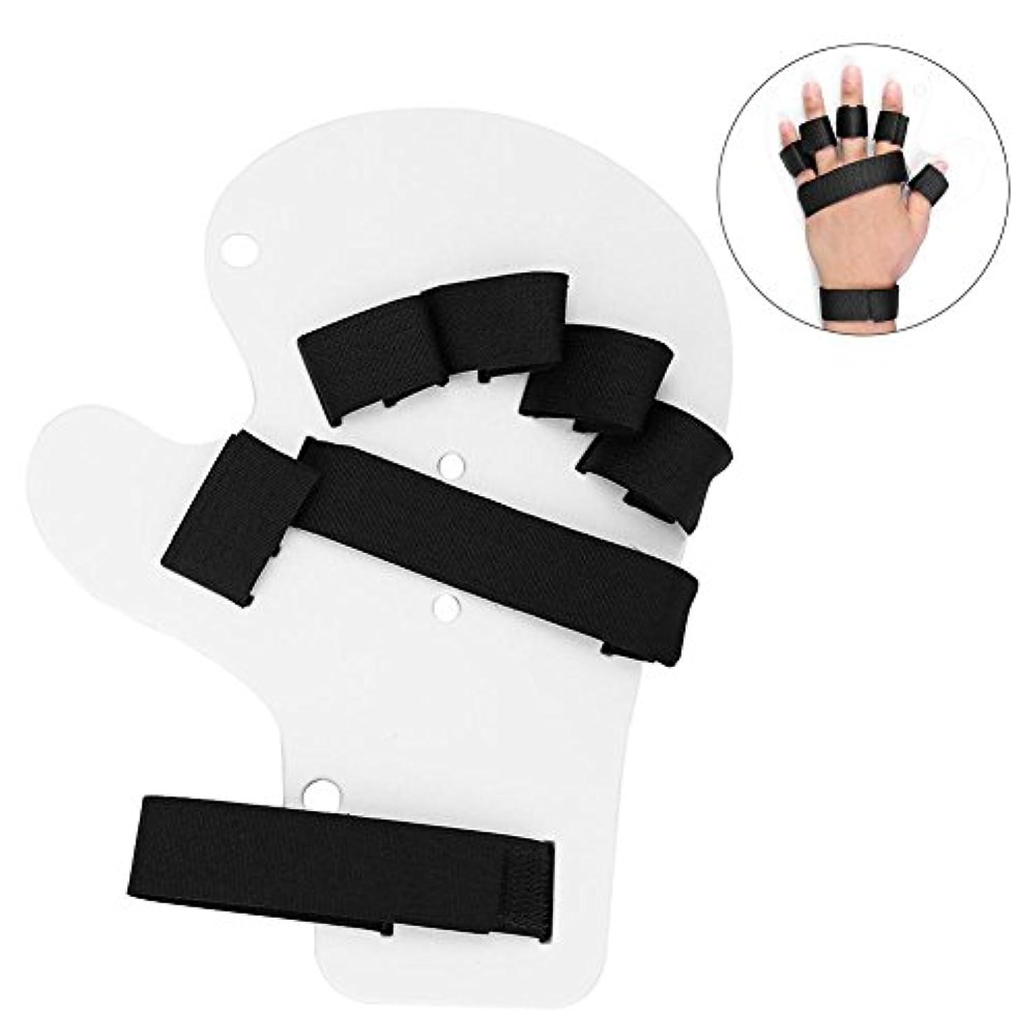 謙虚な略語検体指の訓練板、両手のための指の装具の指板手の添え木の訓練サポート(ホワイト)