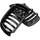 TOOGOO Gloss Black Car Front Kidney Grill Grilles for X3 F25 X4 F26 2014 2015 2016 2017 Replacement Car Styling