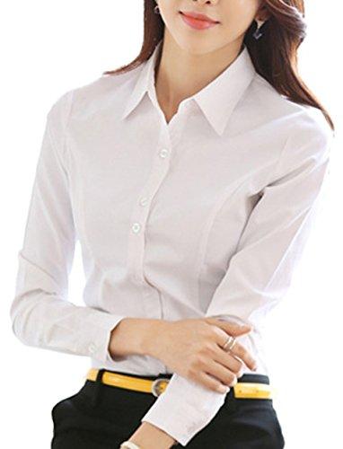 (マリッチ) Maritchi ブラウス 長袖 白 シャツ ホワイト カッターシャツ オフィス (M, ホワイト)