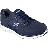 Skechers Work Relaxed Fit Synergy Ekron Alloy Toe Mens Sneakers Navy 10.5