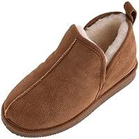 Lambland Boy's Genuine Sheepskin Bootee Slippers Hard Sole