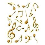 彩蒔絵本舗 Musical Instruments Puremium Makie Sticker 音符