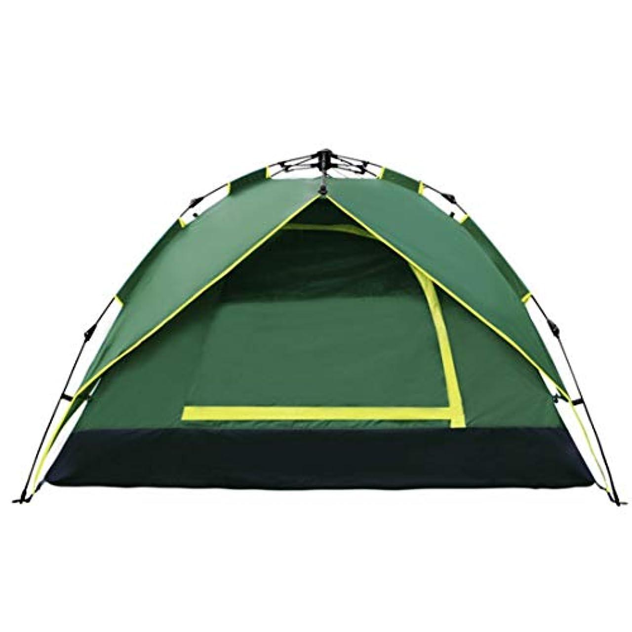慰めシエスタ段階方朝日スポーツ用品店 二重層の防水ガラス繊維のポーランド人が付いている屋外のキャンプのためのキャンプテント。 (色 : オレンジ, サイズ : 3-4P)