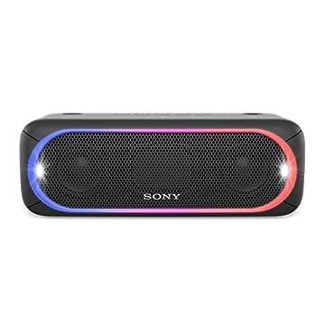ソニー SONY ワイヤレスポータブルスピーカー 重低音モデル SRS-XB30 : 防水/Bluetooth対応 ライティング機能搭載 ブラック SRS-XB30 B