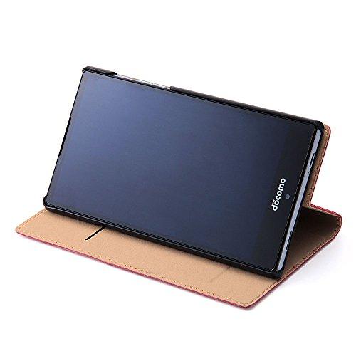レイ・アウトdocomo AQUOS ZETA SH-03G ディズニー 手帳型ポップアップ・レザーケース (ICカード収納ポケット/スタンド機能/指紋認証対応) ミニーマウス RT-DSH03GJ/MN