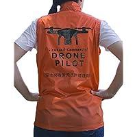 ドローンパイロットベスト オレンジ Mサイズ
