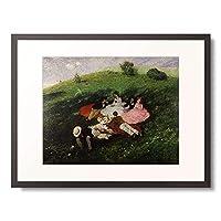 シニェイ・メルシェ・パール Szinyei-Merse, Pal 「The Picnic. 1873」 額装アート作品