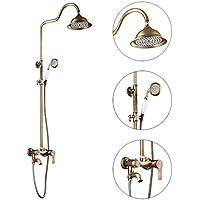 バスルームシャワーを浴びるシャワーセット - すべての青銅のヨーロッパスタイル蛇口を持ち上げることができる - ハンドスプレー - スパ
