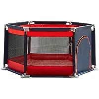 フェンス幼児遊びフェンス安全フェンス赤ちゃん屋内遊び場フェンス赤ちゃんフェンス幼児フェンス (Color : Red, Size : 125 * 125 * 65cm)