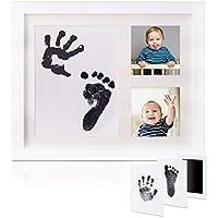手形 赤ちゃん Gssuccess 、ベビーフレーム 手形 足形 フォトフレーム 、手形足形キット 出産祝い 内祝い ベビー記念品 置き掛け兼用 (2.2)
