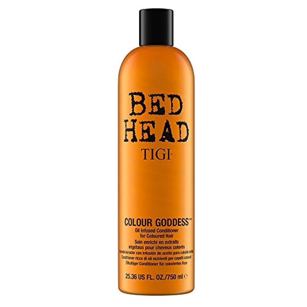 風刺論争の的大混乱ティジー Bed Head Colour Goddess Oil Infused Conditioner (For Coloured Hair) 750ml [海外直送品]