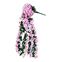 joyMerit シルク フラワー アイビー つる ガーランド パーティー ぶら下げ 人工 家 装飾 - ピンク