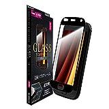 らくらくスマートフォン me F-01L ガラスフィルム 「GLASS PREMIUM FILM」 3Dハイブリッド 高光沢/ブラック LP-MF01LFGFFBBK