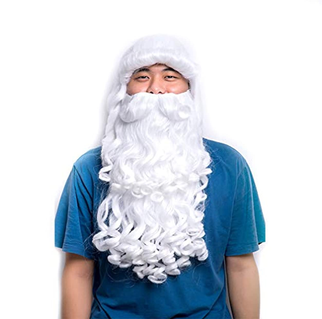 帳面フォルダスーツケース男性ウィッグ女性ウィッグクリスマスウィッグロング合成オンブルカーリー波状クリスマスハロウィンアニメコスプレパーティーコスチュームウィッグ