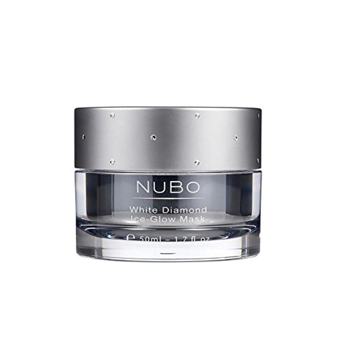 圧力裕福な意図Nubo White Diamond Ice Glow Mask 50ml (Pack of 6) - 白いダイヤモンドの氷のグローマスク50ミリリットル x6 [並行輸入品]