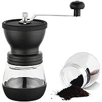 TOPSUN 手挽きコーヒーミル粗さ調節可 セラミック製の臼式コーヒーミル手動式 コーヒーミル ブ