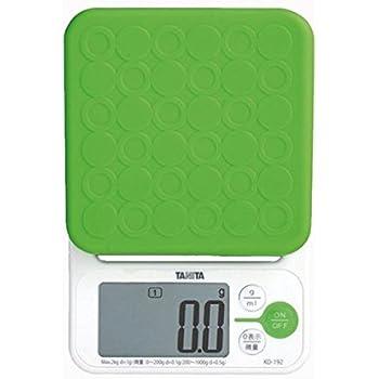 タニタ クッキングスケール デジタル 2kg 0.1g グリーン KD-192 GR お菓子づくりに