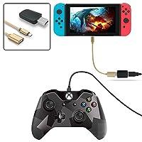Womdee のコントローラコンバータは、タイプ C OTG ケーブルで、あなたのスイッチと互換性のある PS3/PS4 デュアルショック/XBOX one コントローラ、振動をサポートします
