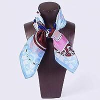 QingYun Trade レディースシルクスカーフ100%シルクスカーフスカーフショールユニークな気質を完璧に表現 (Color : Beige, サイズ : M)