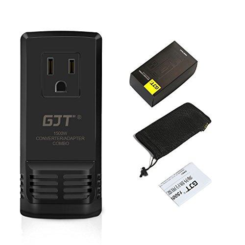 GJT 海外旅行用変圧器 海外変換プラグ 降圧 1500W ...