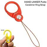HandLinker Putto Carabiner ハンドリンカー プット カラビナ リング モバイル 携帯ストラップ フィンガーストラップ 落下防止 / オレンジ