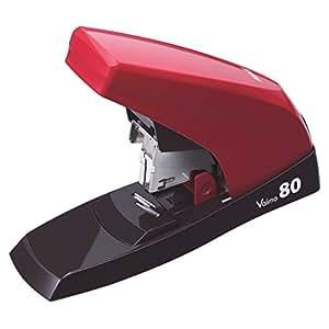 マックス ホッチキス 卓上ホッチキス バイモ80フラット 80枚 レッド HD-11UFL/R