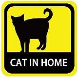 kakuo gadgets 車用 マグネット ステッカー CAT IN HOME 家に猫がいます 英語版 耐候性 耐水 13.5cm