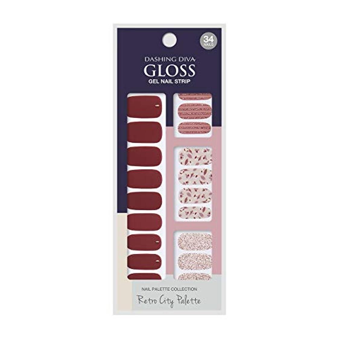 書誌突進限定ダッシングディバ グロスジェル ネイルストリップ DASHING DIVA Gloss Gel Nail Strip GVP87 -DURY+ オリジナルジェル ネイルシール Merlot Wine