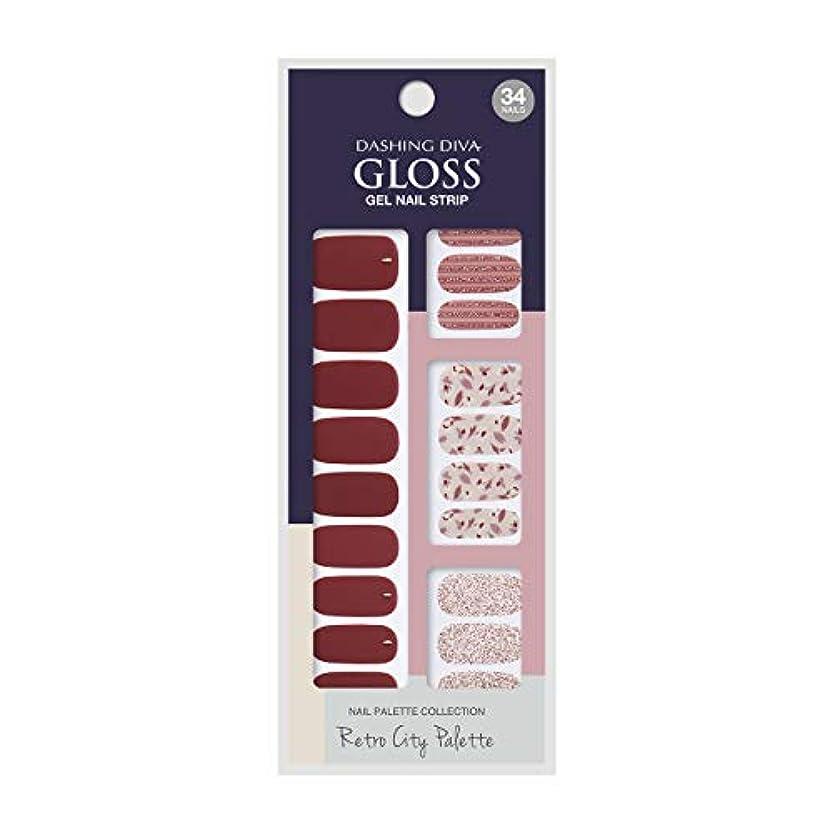 変更で影のあるダッシングディバ グロスジェル ネイルストリップ DASHING DIVA Gloss Gel Nail Strip GVP87 -DURY+ オリジナルジェル ネイルシール Merlot Wine