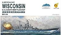 1/350 アメリカ海軍 戦艦 BB-64 ウィスコンシン プラモデル