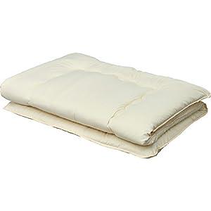 敷布団 3層 軽量固綿入り 洗える 低ホルムアルデヒド 幅100×奥行210cm シングル アイボリー