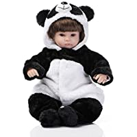 43cm Lifelike Reborn Baby Doll Silicone Fake Panda Girl Cosplay Kids Festival Toys Gifts Shooting Collection