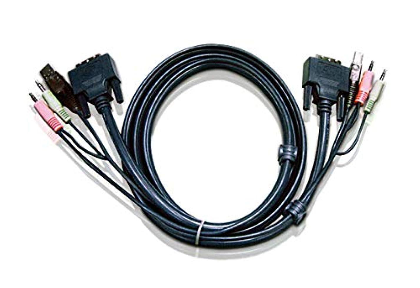 蒸発スリンクモネATEN 2L-7D03UI DVI-Iシングルリンクケーブル 3m