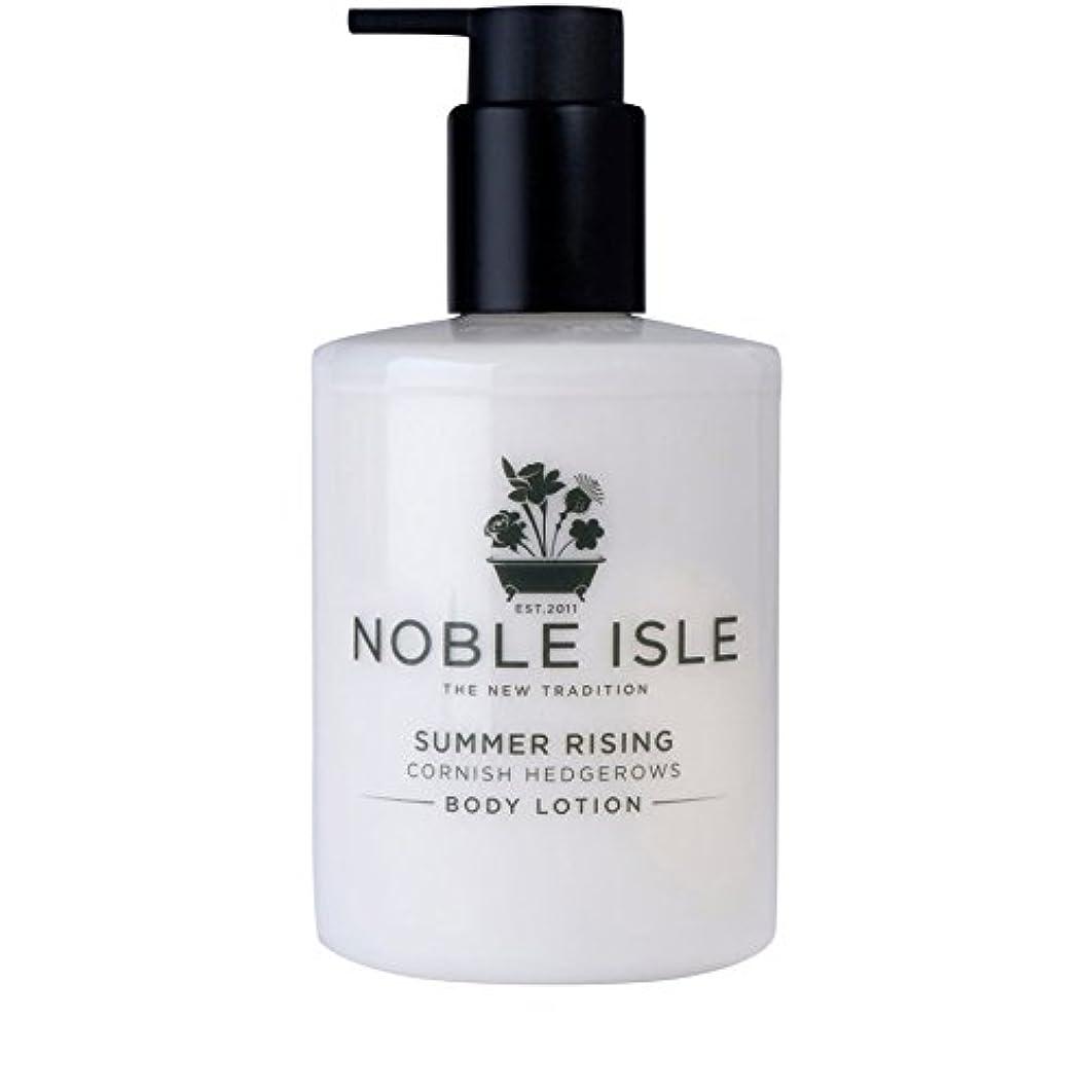 アパートはげ契約するコーニッシュ生け垣ボディローション250ミリリットルを上昇高貴な島の夏 x4 - Noble Isle Summer Rising Cornish Hedgerows Body Lotion 250ml (Pack of...