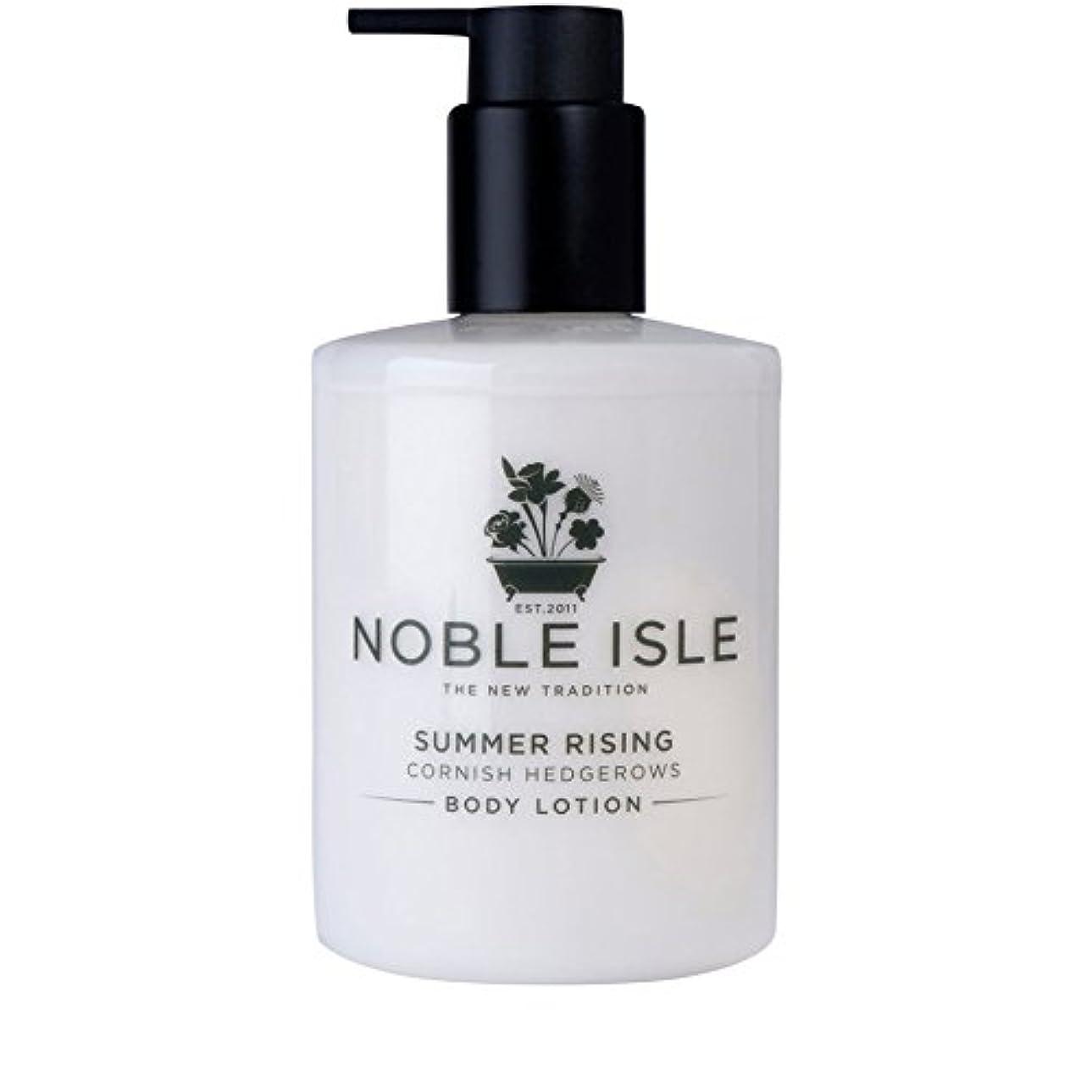 リラックス目の前の既婚コーニッシュ生け垣ボディローション250ミリリットルを上昇高貴な島の夏 x2 - Noble Isle Summer Rising Cornish Hedgerows Body Lotion 250ml (Pack of...