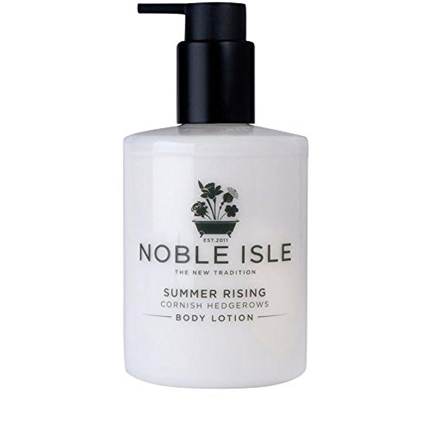辛な船外二層コーニッシュ生け垣ボディローション250ミリリットルを上昇高貴な島の夏 x4 - Noble Isle Summer Rising Cornish Hedgerows Body Lotion 250ml (Pack of...