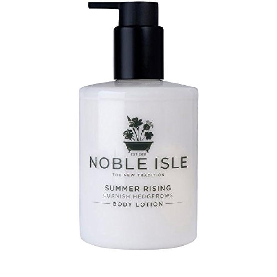 首クロニクル勝利したコーニッシュ生け垣ボディローション250ミリリットルを上昇高貴な島の夏 x4 - Noble Isle Summer Rising Cornish Hedgerows Body Lotion 250ml (Pack of...