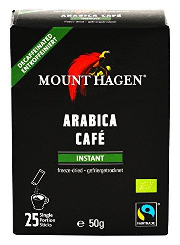 マウント ハーゲン オーガニック フェアトレード カフェインレス インスタントコーヒー スティック  50g(2g×25P)