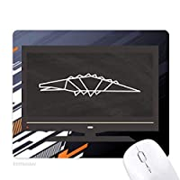 抽象的な幾何形状のワニ ノンスリップラバーマウスパッドはコンピュータゲームのオフィス