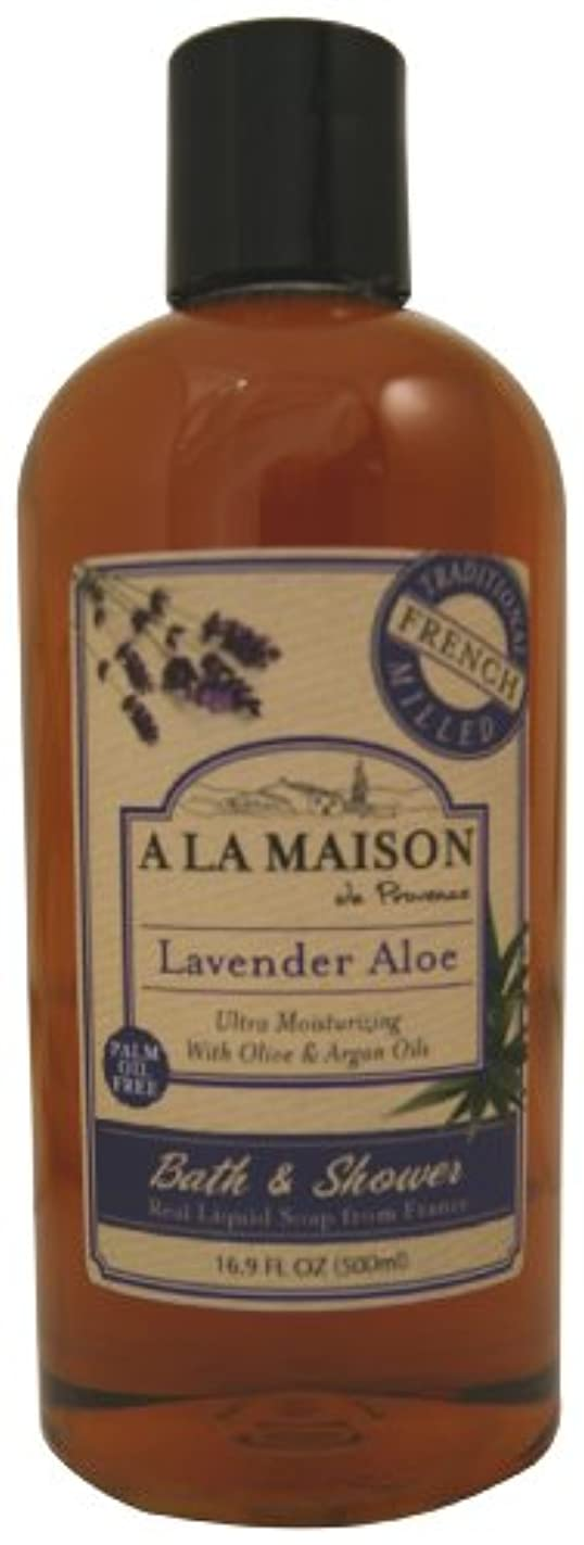ドア変わる骨海外直送品A La Maison Shower Gel Lavender Aloe, Lavender Aloe 16.9 oz
