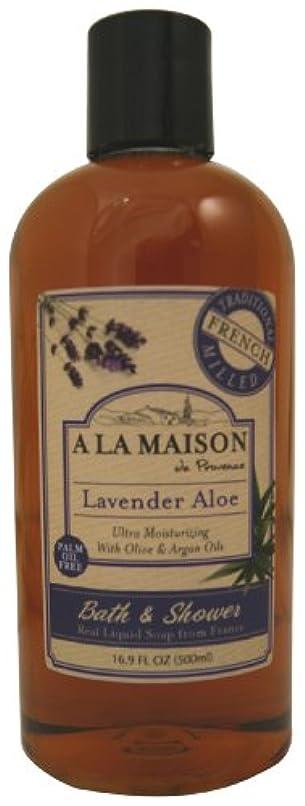 告白する社説休日海外直送品A La Maison Shower Gel Lavender Aloe, Lavender Aloe 16.9 oz