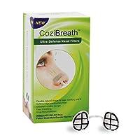 CoziBreath 鼻用フィルター,目に見えないマスク低アレルギー性、フィルター汚染物質、PM2.5、花粉、粉塵、動物の毛、カビ、ふけ毛、カビ、ふけ (丸い鼻孔, M)