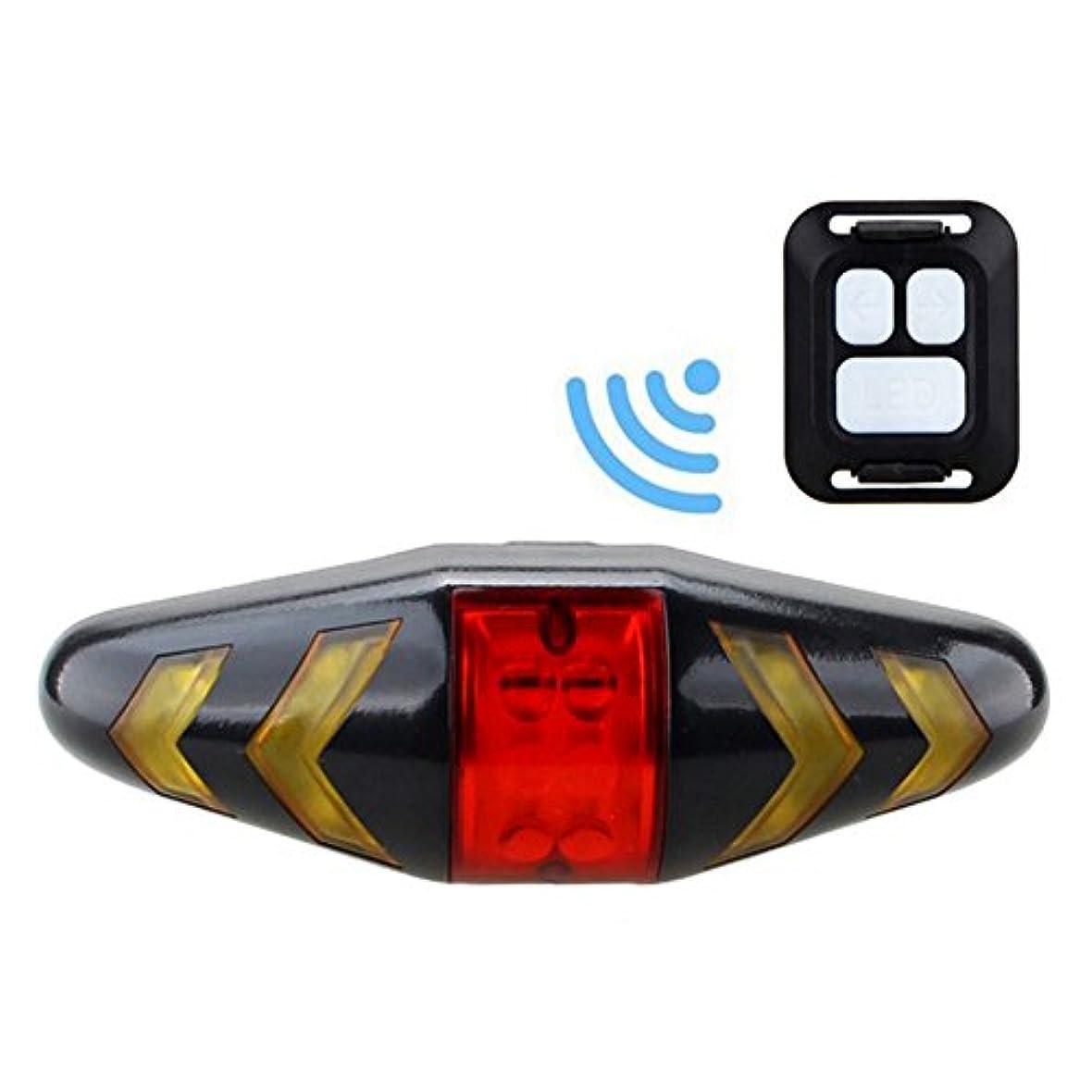 章驚くばかり監査LED MTB Bicycle Turn Signal Taillight USB Remote Remote Control Warning Lamp